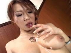 Misaki Asou best sloppy and messy oral intercourse!
