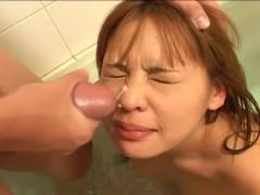 Small breast Asian hairy snatch felt out!