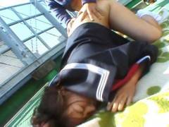 Chubby Misa Kashigawi ramed outdoors