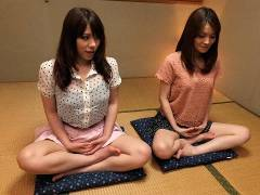 Anna Kirishima and Kana Suzuki stuffed at yoga
