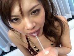 Sexy Japanese slut gets hammered by 2 horny men
