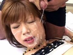 Miki Matsufuji hard hammering and bukkake